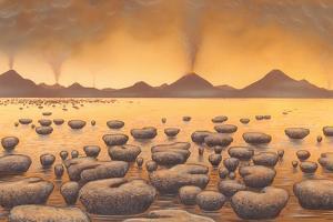 Early Stromatolites, Artwork by Richard Bizley