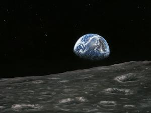 Earthrise Photograph, Artwork by Richard Bizley