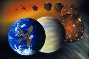 Formation of the Earth, Artwork by Richard Bizley