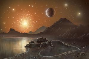 Globular Cluster, Artwork by Richard Bizley
