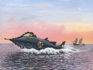 Jules Verne's Nautilus Submarine, Artwork by Richard Bizley