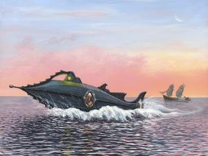 Jules Verne's Nautilus Submarine, Artwork by Richard Bizley