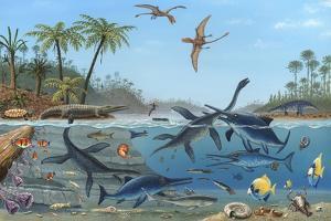 Jurassic Landscape, Artwork by Richard Bizley