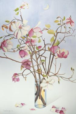 Magnolias and Moon I by Richard Bolingbroke