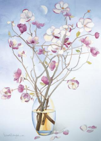 Magnolias and Moon II by Richard Bolingbroke