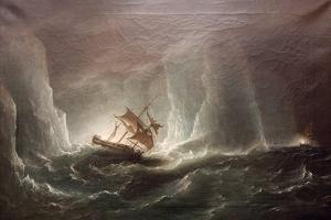 Hms Erebus and Terro, Escape from the Bergs, 13 March 1842, 1863 by Richard Bridges Beechey