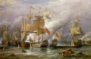 The Battle of Cape St. Vincent, 14th February 1797 by Richard Bridges Beechey