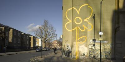 Banksy Mural, Pollard Street, Bethnal Green, London by Richard Bryant