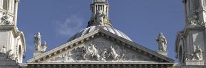 St. Paul's Cathedral, City of London, London. Upper Entrance Pediment and Statues by Richard Bryant