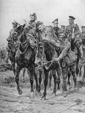 WWI - Wounded British soldiers on horseback by Richard Caton II Woodville