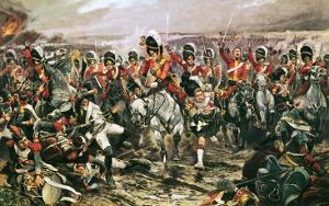 Charge of the Scots Greys at Waterloo by Richard Caton Woodville