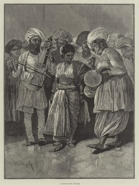 A Nautch Girl Dancing by Richard Caton Woodville II