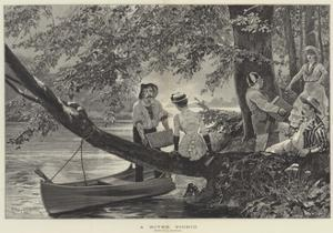 A River Picnic by Richard Caton Woodville II