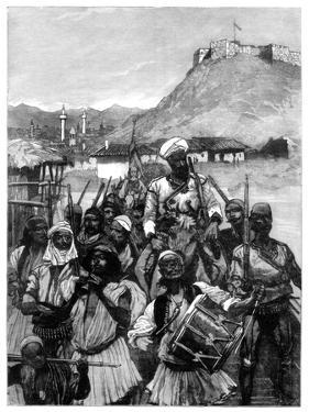 Albanians from Scutari Cross the Boyana to Occupy Dulcigno, 1880 by Richard Caton Woodville II