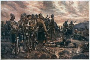 All That Was Left of Them, 2nd Boer War, 1899 by Richard Caton Woodville II