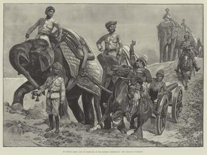 An Indian Army Camp of Exercise in the Madras Presidency, the Elephant Battery by Richard Caton Woodville II