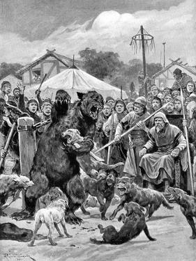 Bear-Baiting in Saxon Times by Richard Caton Woodville II
