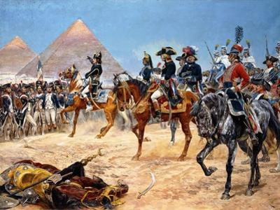 Bonaparte in Egypt, 21st July, 1798, 1911 by Richard Caton Woodville II