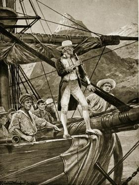 Captain Cook Approaching New Zealand by Richard Caton Woodville II