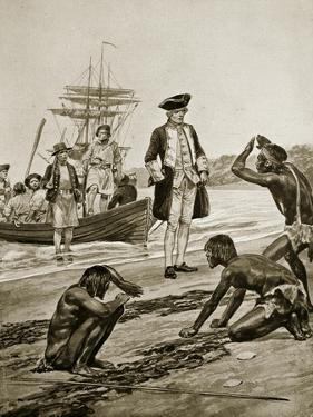 Captain Cook Landing in Tasmania, 1777 by Richard Caton Woodville II