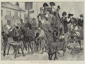 Going to the Derby a Hundred Years Ago by Richard Caton Woodville II