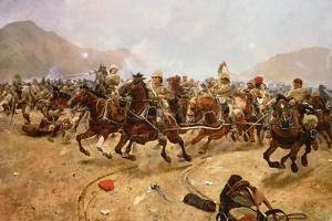 Maiwand 1880: Saving the Guns, 1882 by Richard Caton Woodville II