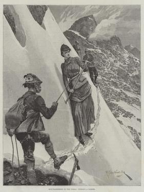 Mountaineering in the Tyrol, Turning a Corner by Richard Caton Woodville II