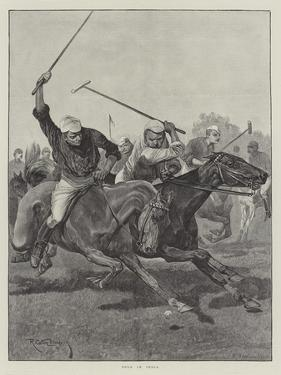 Polo in India by Richard Caton Woodville II