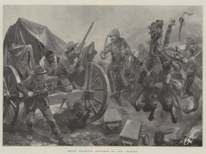 Rebel Colonists Attacked by Our Cavalry by Richard Caton Woodville II