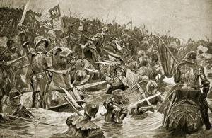 The Battle of Towton, Illustration from 'Hutchinson's Story of the British Nation', C.1923 by Richard Caton Woodville II