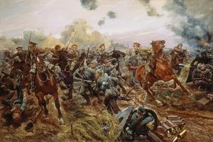 The First VC of the European War, 1914 by Richard Caton Woodville II