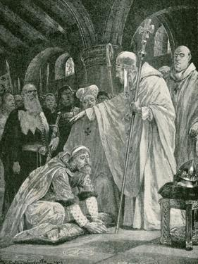 The Prostration of Harold, Son of Godwin by Richard Caton Woodville II