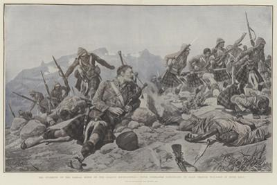 The Storming of the Dargai Ridge by the Gordon Highlanders by Richard Caton Woodville II