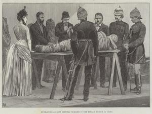 Unwrapping Ancient Egyptian Mummies in the Boulak Museum at Cairo by Richard Caton Woodville II