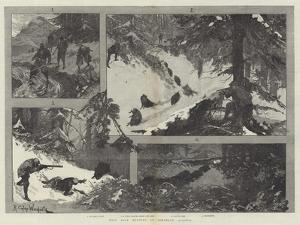Wild Boar Hunting in Northern Albania by Richard Caton Woodville II