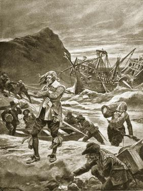 Wrecked Upon the Bermudas, 1609 by Richard Caton Woodville II