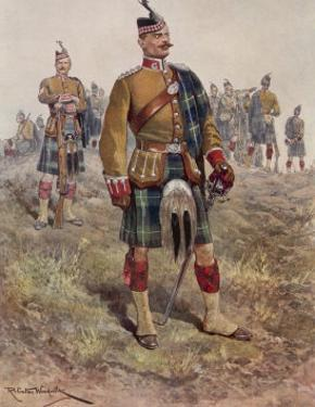 The King's (Liverpool Regiment) 10th (Scottish) Battalion by Richard Caton Woodville