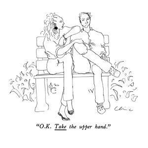 """O.K. Take the upper hand."" - New Yorker Cartoon by Richard Cline"