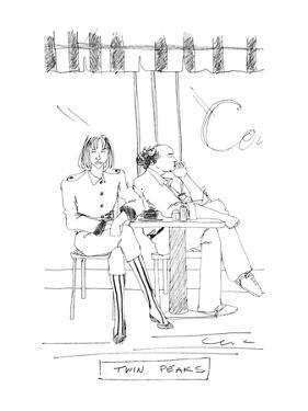TWIN PEAKS - New Yorker Cartoon by Richard Cline