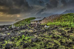 Mariano's Cabin on Makanalua Peninsula, Kalaupapa Settlement, Molokai, Hawaii by Richard Cooke III