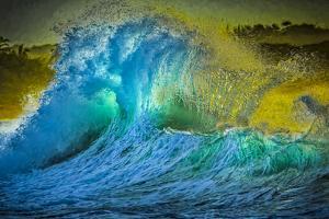 Painted Wave Photo at Papohaku Beach, West End, Molokai, Hawaii by Richard Cooke III