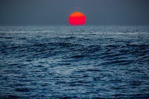 Sunset at Papohaku Beach, West End, Molokai, Hawaii by Richard Cooke III