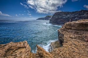 The Anapuka Peninsula Along Cliffs to Mokio Point, of the Mokio Preserve of Molokai Land Trust by Richard Cooke III