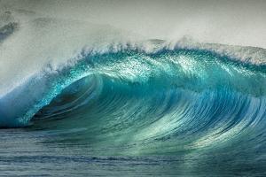 Wave Photo at Papohaku Beach, West End, Molokai, Hawaii by Richard Cooke III