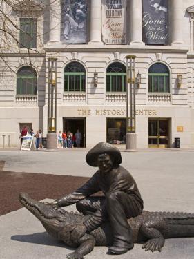 Alligator Sculpture by Craig T. Ustler, the History Center, Orlando, Florida, USA by Richard Cummins