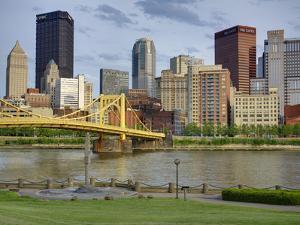 Andy Warhol Bridge (7th Street Bridge) and Allegheny River, Pittsburgh, Pennsylvania, United States by Richard Cummins