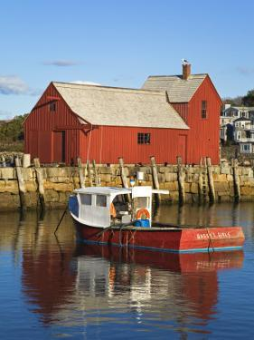 Boathouse in Rockport Harbor, Cape Ann, Greater Boston Area, Massachusetts, New England, USA by Richard Cummins
