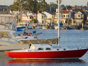 Boats in Newport Channel Near Balboa, Newport Beach, Orange County, California, United States of Am by Richard Cummins