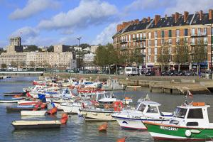 Boats in Saint Francois Quarter, Le Havre, Normandy, France, Europe by Richard Cummins