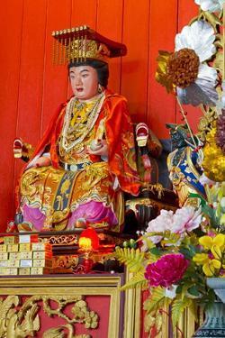 Buddha in Hainan Temple, Georgetown, Penang Island, Malaysia, Southeast Asia, Asia by Richard Cummins
